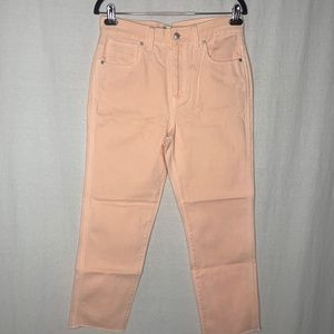 Madewell Straight leg raw hem jeans